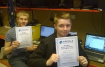 Jack and Jack from Kings School completed their work experience placement